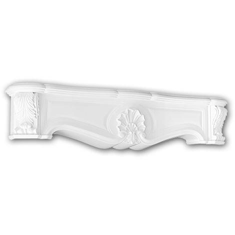 Cheminée décorative 164001 Profhome Élement décorative design intemporel classique blanc