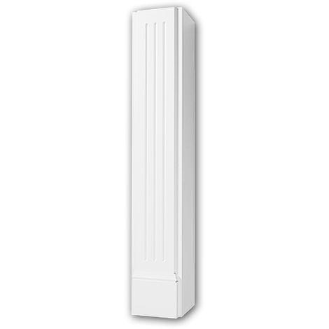 Cheminée décorative 164005 Profhome Élement décorative design intemporel classique blanc