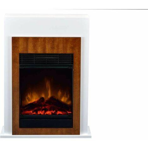 Cheminée décorative Bellini brown + kit bûches - 750/1500W - Optiflame