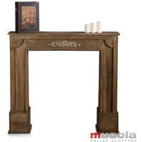 """Cheminée décorative, cheminée console accessoires de cheminée en bois objet factice déco """"vintage"""""""