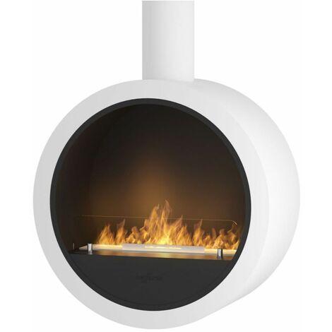 Cheminee design avec bruleur a l ethanol cm 70x70x35 Sined Fire INCYRCLE WHITE