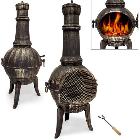 Cheminee D Exterieur En Fonte Bbq Grill Brasero Mexicain Grill