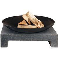 Cheminée d'extérieur vasque sur table en granite rectangulaire