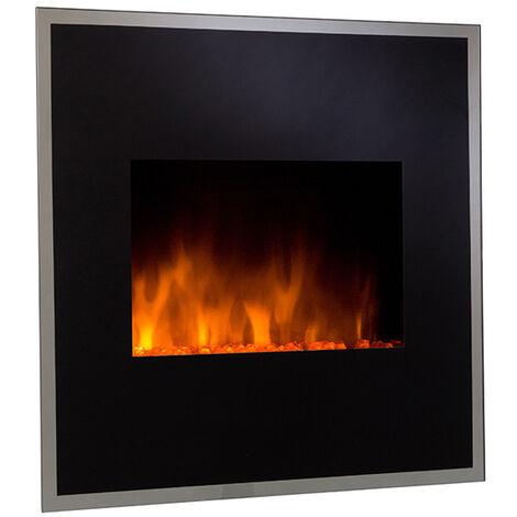 cheminée électrique 1800w noir - black river - cheminarte