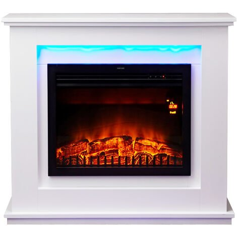 cheminée électrique 2000w blanc - 181 - chemin'arte