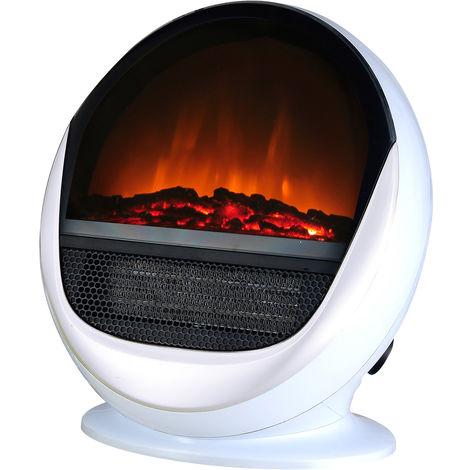 cheminée électrique 2000w blanc - pop fire blanc - chemin'arte