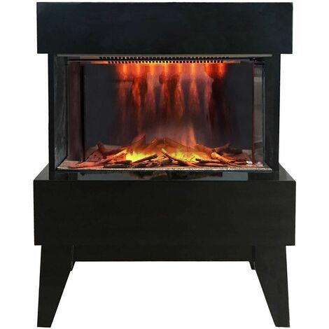 cheminée électrique 2000w noir