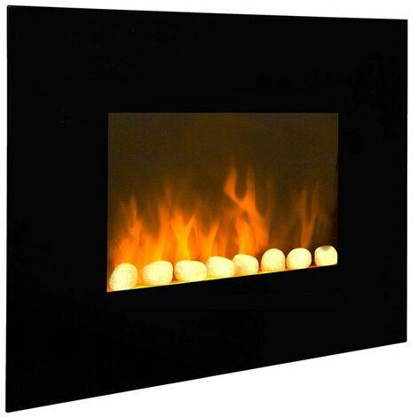 cheminée électrique 2000w noir - black fire - cheminarte
