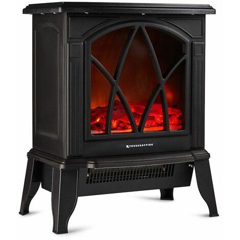 chemin e lectrique autoportante feu de bois largeur 44. Black Bedroom Furniture Sets. Home Design Ideas