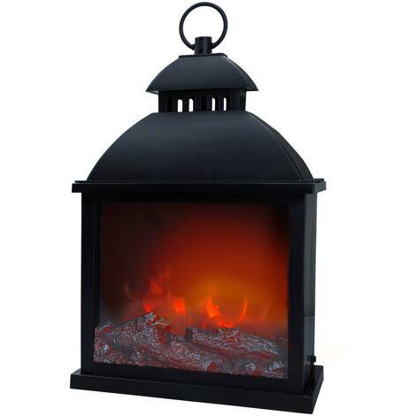 Cheminée électrique décorative LED ambiances pentagonales minimalistes