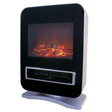 Cheminée électrique effet flamme 2000W RADAR oscillante NIKLAS Chauffage d'appoint Position flamme deco