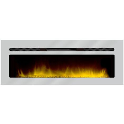 cheminée électrique encastrable 150cm inox - 149 - chemin'arte