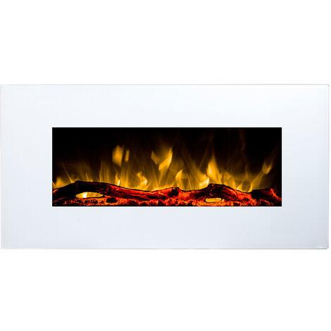 Cheminée électrique murale à leds blancs cm 45x84x14 GLOW-FIRE 190104