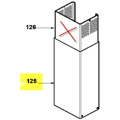 Cheminee Inox Inferieure 74X6926 Pour HOTTE
