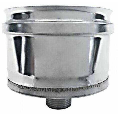 cheminée isolé bouchon dn 100/150 INOX recueillir le condensat