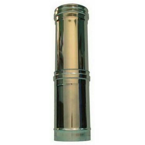 cheminée isolé INOX dn 100/150 élément télescopique