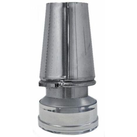 cheminée isolé INOX dn 130/180 chapeau conique