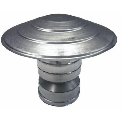 cheminée isolé INOX dn 150/200 chapeau chinois / coupe-vent