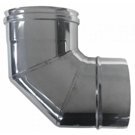 cheminée isolé INOX dn 150/200 courbe 90 °