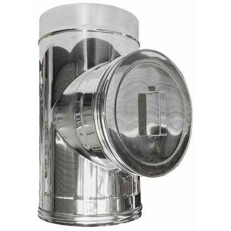 cheminée isolé INOX dn 150/200 inspection de l'élément carré