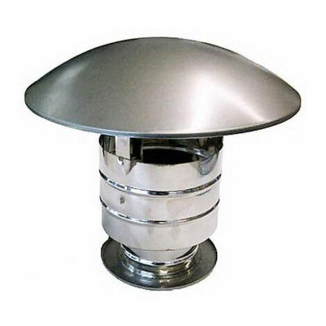 cheminée isolé INOX dn 300/350 chapeau chinois / coupe-vent