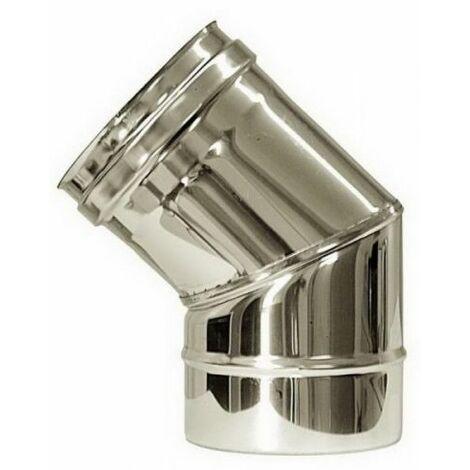 cheminée isolé INOX dn 450/500 courbe 45 °