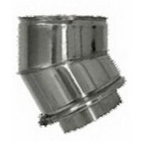 cheminée isolé INOX dn 80/130 45 ° courbe