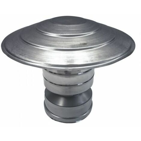 cheminée isolé INOX dn 80/130 chinois / chapeau coupe-vent