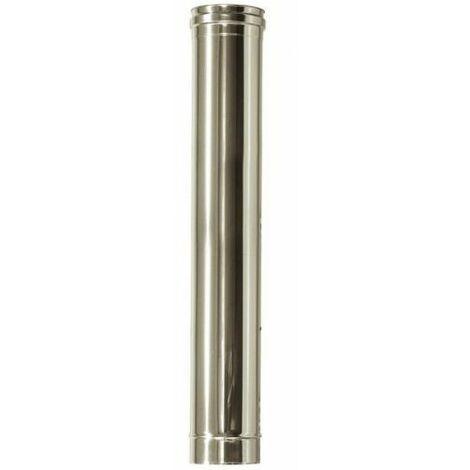 cheminée isolé INOX dn 80/130 longueur 1 mt