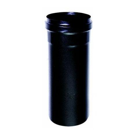 Cheminée noir DN 80 télescopique émail noir poêle granulés