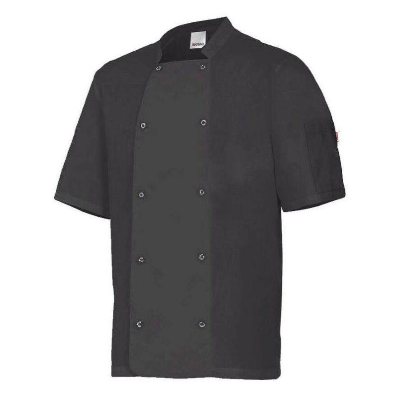 Veste de cuisine manches courtes avec boutons pression Noir 58 - Velilla