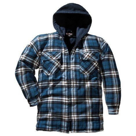 Chemise de travail hiver motif écossais Taille L, bleu-à carreaux