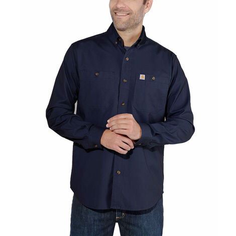 Chemise LW Rigby Solid L/S 103554 CARHARTT 412Navy Taille M - S1103554412M