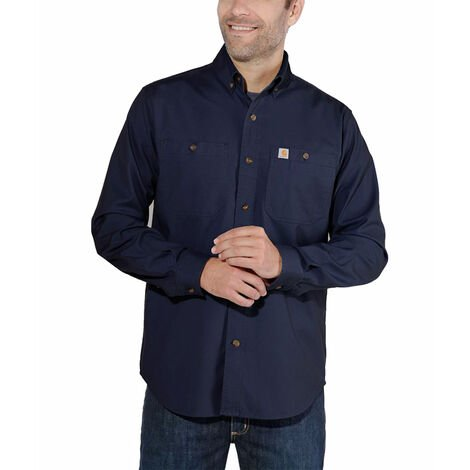 Chemise LW Rigby Solid L/S 103554 CARHARTT 412Navy Taille XL - S1103554412XL