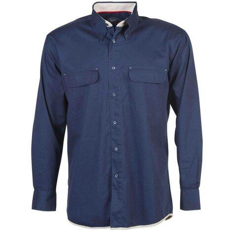 Chemise manches longues 2 poches Penduick Jones Marine / Beige