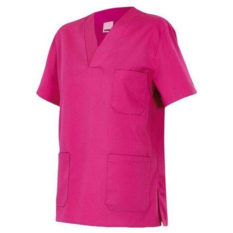 Chemisette d'entretien et santé manches courtes 3 poches homme 65% polyester 35% coton 190 gr/m2 - Fuchsia - 589 - Velilla