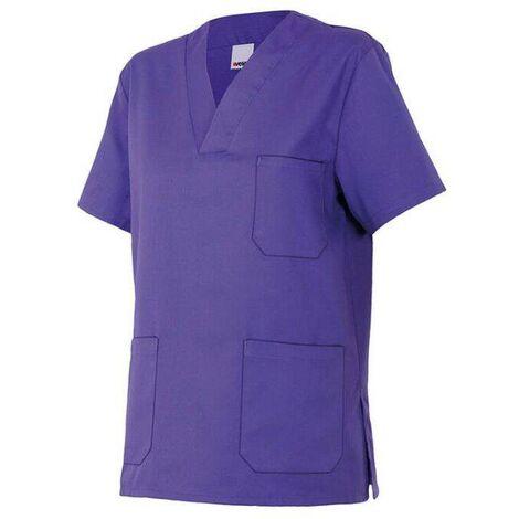 Chemisette d'entretien et santé manches courtes 3 poches homme 65% polyester 35% coton 190 gr/m2 - Violet - 589 - Velilla