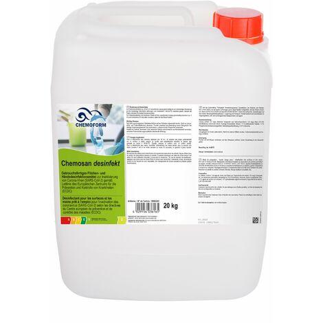 Chemosan Desinfekt - Désinfectant special COVID pour mains, surfaces ménagères et industrielles - Le bidon de 20kg - Prêt à l'emploi