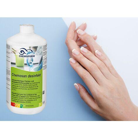 Chemosan Desinfekt - Désinfectant special COVID pour mains, surfaces ménagères et industrielles - Le bidon de 3L - Prêt à l'emploi