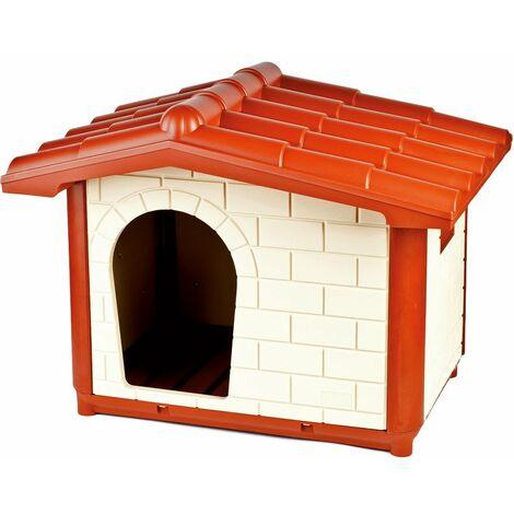 Chenil élégant en plastique rigide en extérieur pour chiens avec fond de drainage modèle CORTINA Ferribiella
