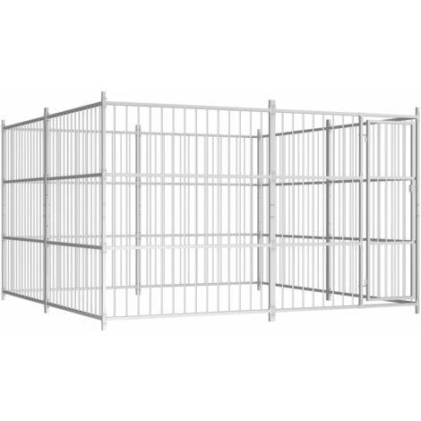 Chenil d'extérieur pour chiens 300 x 300 x 185 cm