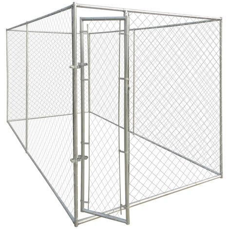Chenil d'extérieur pour chiens 4 x 2 x 2 m