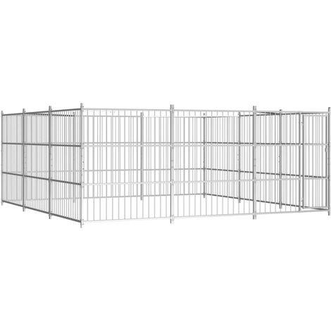 Chenil d'extérieur pour chiens 450 x 450 x 185 cm