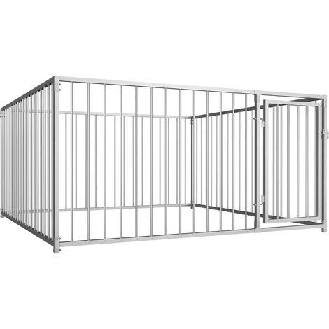 Chenil d'extérieur pour chiens Clôture pour chien 200 x 200 x 100 cm