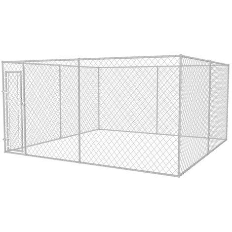 Chenil extérieur pour chiens 4 x 4 x 2 m