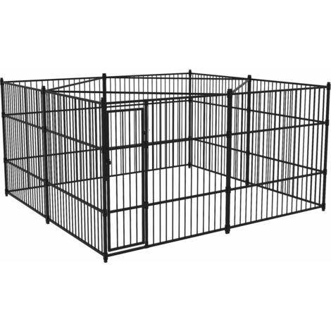 chenil ext rieur pour chiens 400 x 400 cm 170507. Black Bedroom Furniture Sets. Home Design Ideas