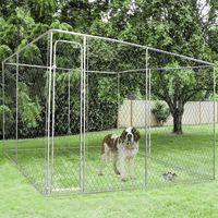 Chenil grillagé 4x4 m pour chiens 16 m²