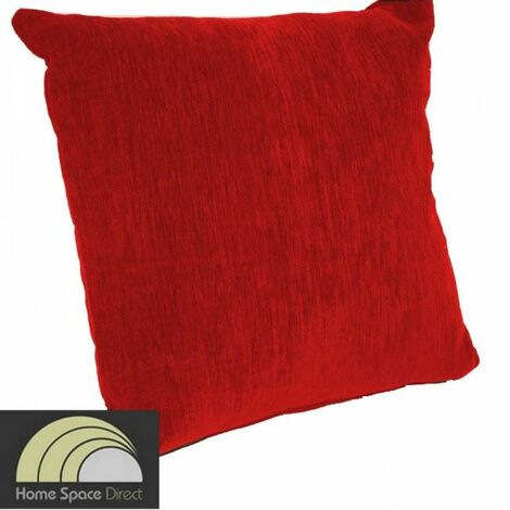 Chenille red cushion cover 45x45cm