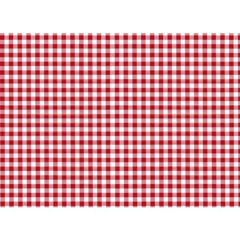 """main image of """"Chequered Effect Sticky Back Plastic Fablon Vinyl Durable Self Adhesive Red"""""""