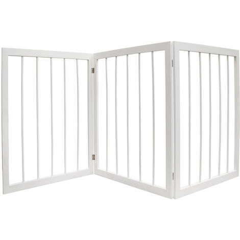 CHERISH - 3 Section Wooden Solid Wood Folding Pet Gate - White